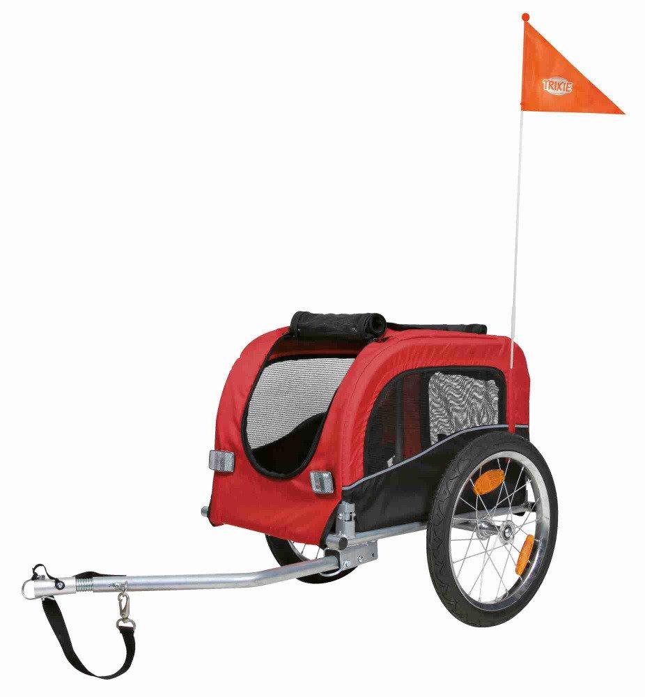 trixie fahrrad anh nger s 53x60 117x60cm schwarz rot fahrradanh nger transport reise. Black Bedroom Furniture Sets. Home Design Ideas