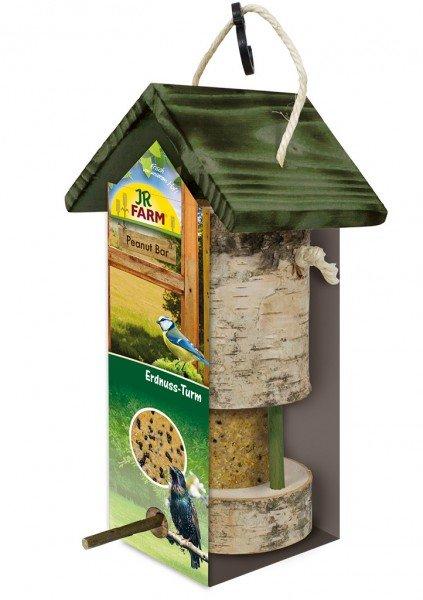 JR FARM Peanut Bar Erdnuss-Turm für Wildvögel inklusive Nachfüller