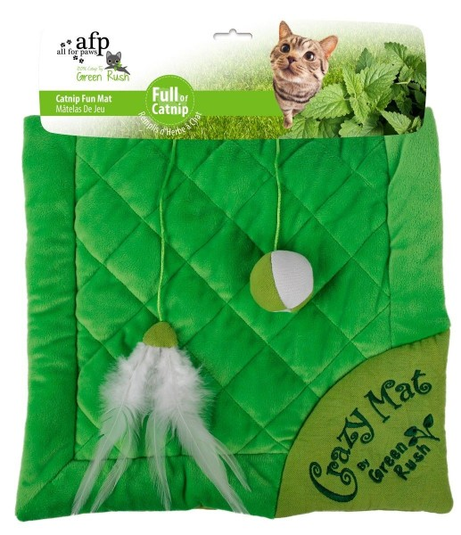 all for paws (afp) Green Rush Crazy Cat Mat mit Katzenminze Katzenspielzeug