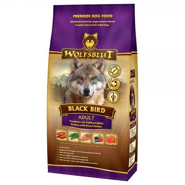 WOLFSBLUT Black Bird Truthahn mit Süßkartoffel Hundetrockenfutter