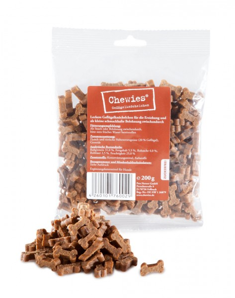 Chewies Geflügelknöchelchen 200g Hundesnack