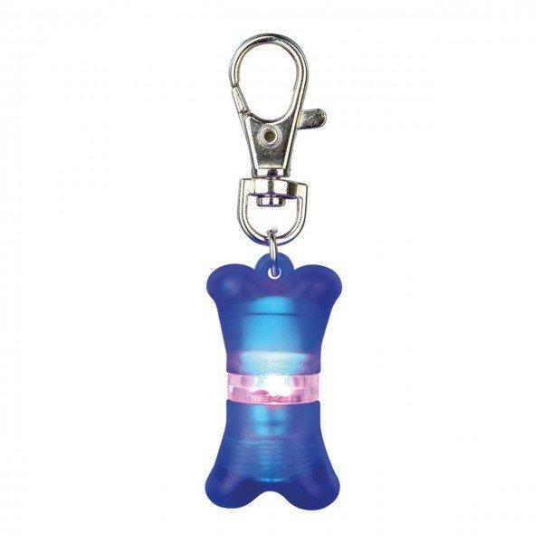 TRIXIE Flasher für Hunde 2 x 4 cm blau Sicherheitslicht