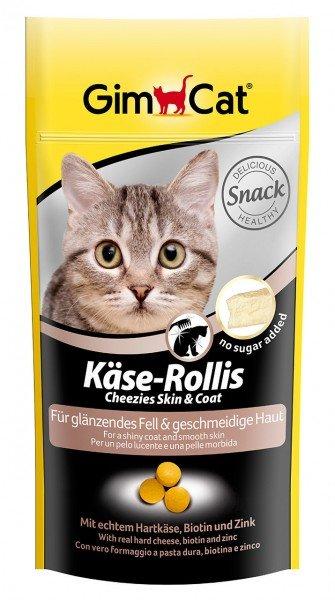 GimCat Käse-Rollis Skin & Coat 40g Katzensnack