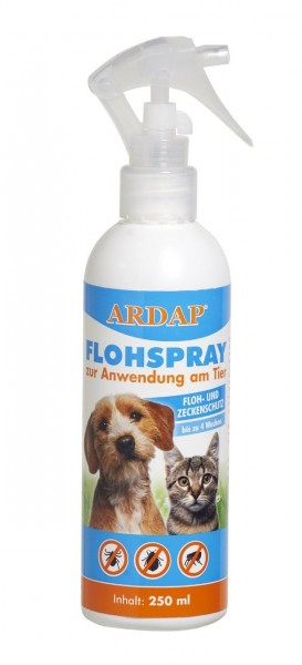 ARDAP Flohspray 250ml zur Anwendung bei Hunden und Katzen