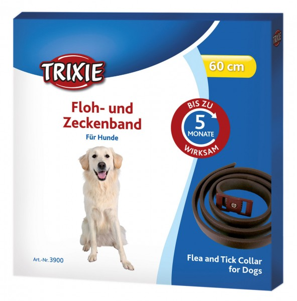 TRIXIE Floh- und Zeckenband für Hunde 60cm braun