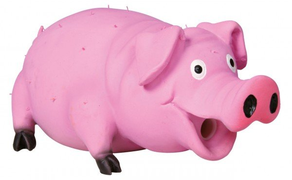 TRIXIE Borstenschwein mit Tierstimme Latex 21cm Hundespielzeug