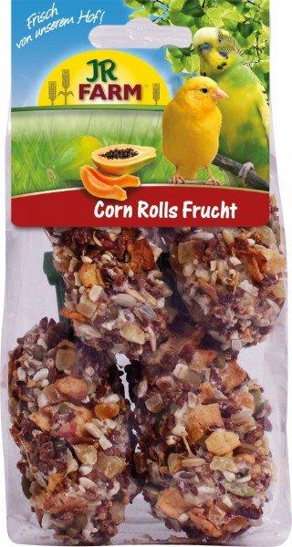 JR FARM Birds Corn Rolls Frucht mit Halter (4 Stück) 90g Vogelsnack