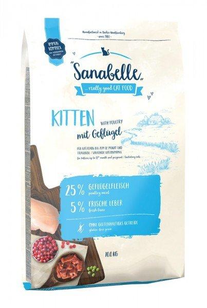 Sanabelle Kitten mit Geflügel Katzentrockenfutter