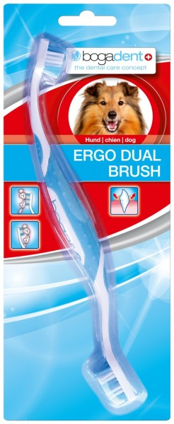 bogadent ERGO DUAL BRUSH Zahnpflege Zahnbürste für Hunde