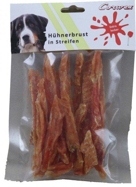 Corwex Hühnerbrust in Streifen 70g Hundesnack