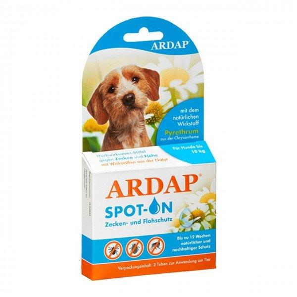 ARDAP Spot-on gegen Ungeziefer 3 x 1 ml für Hunde unter 10 Kilogramm