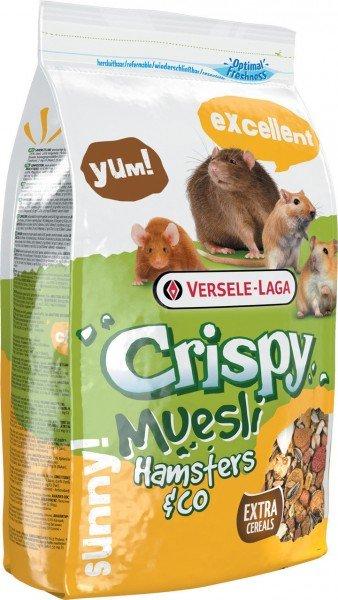 Crispy Muesli - Hamsters & Co 1kg Kleintierfutter für Hamster & Co