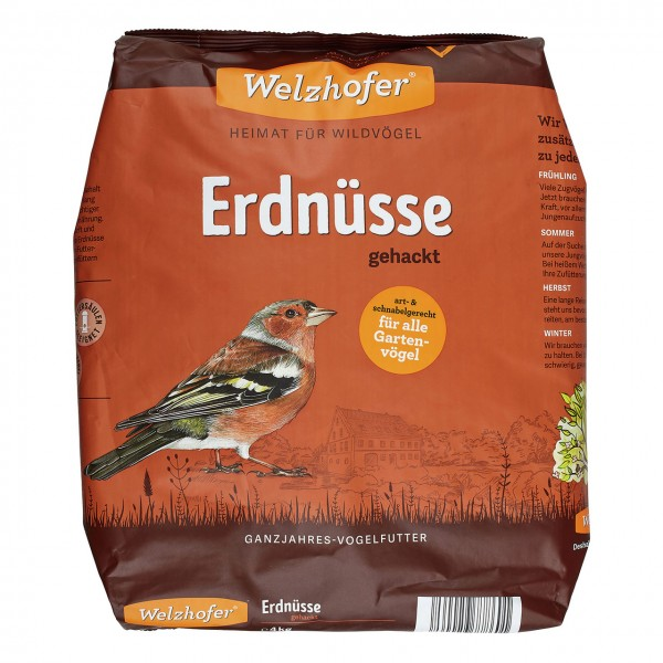 Welzhofer Erdnüsse gehackt für Wildvögel