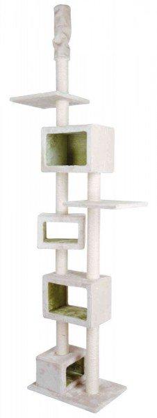 TRIXIE Kratzbaum Tomaso deckenhoch 240-260cm lichtgrau/lindgrün