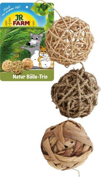 JR FARM Natur Bälle-Trio (1 Stück) Kleintiersnack