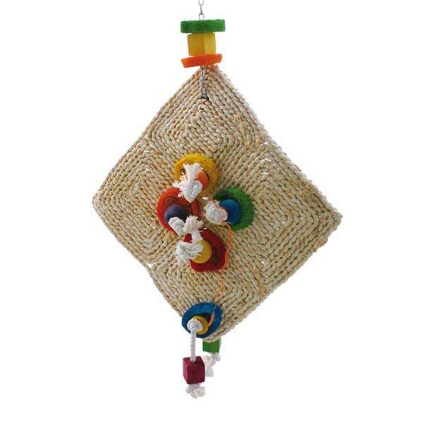 Lufi-Lu Drache mit Luffa-Teilen Spielzeug für Papageien