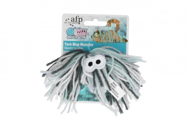 all for paws (afp) Knotty Habit - Yarn Mop Monster Katzenspielzeug