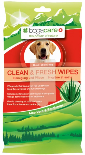 bogacare CLEAN & FRESH WIPES Haut-& Fellpflege für Hunde
