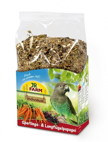 JR FARM Individual Sperlings- & Langflügelpapagei 1kg Vogelfutter