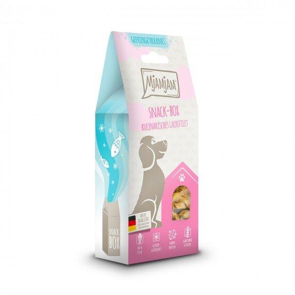 MJAMJAM leckere Snackbox kulinarisches Lachsfilet 100g Hundesnack