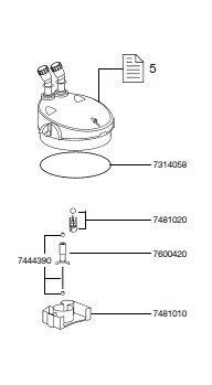 EHEIM 7481020 Käfig mit Ventilkugel Ersatzteil für 2231/2233/2235, 2232/2234/2236