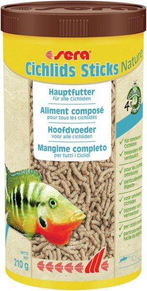 sera Cichlids Sticks Nature 210g / 1000ml Hauptfutter für alle Cichliden