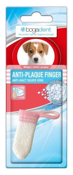 bogadent ANTI-PLAQUE FINGER Zahnbürste Welpen-Packung (1 Stück) Zahnpflege für Hunde