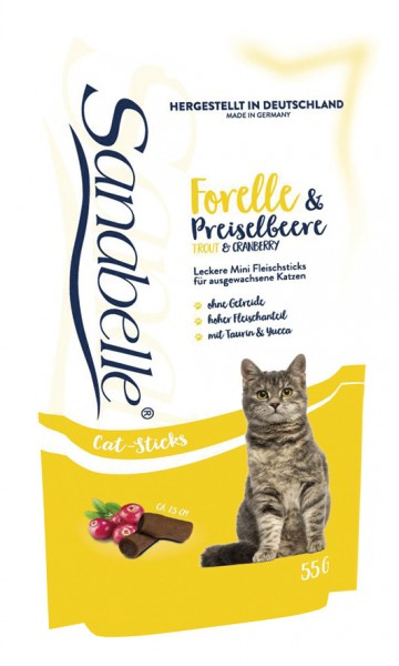 Sanabelle Cat Sticks Forelle & Preiselbeere 55g Katzensnack