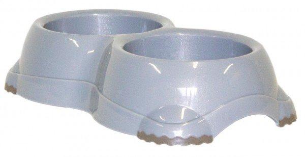 Moderna DOUBLE Smarty Bowl 1 2x330 ml spreckled grey Hundenapf