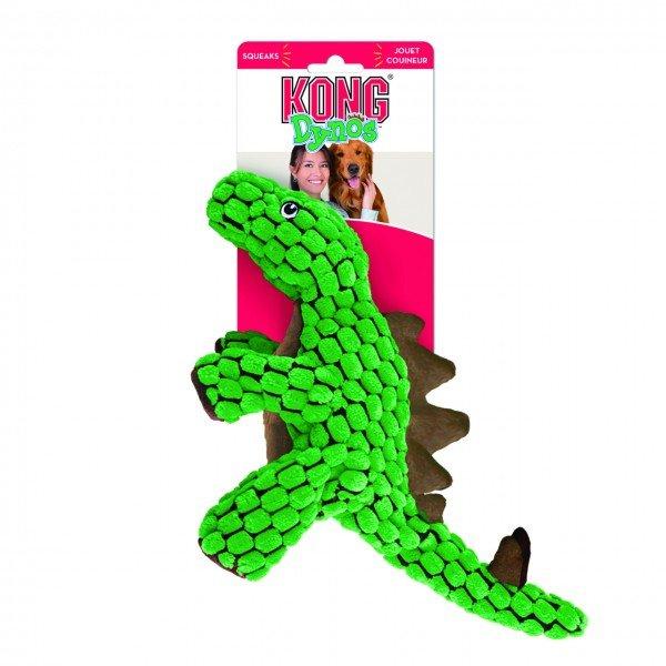 KONG Dynos Stegosaurus L grün Hundespielzeug