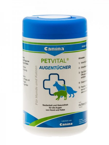 Canina Petvital Augentücher (120 Stück)
