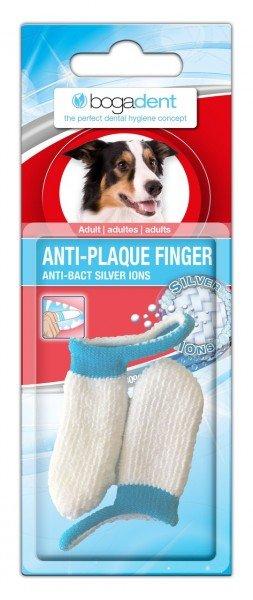 bogadent ANTI-PLAQUE FINGER Zahnbürste Adult-Packung (2 Stück) Zahnpflege für Hunde