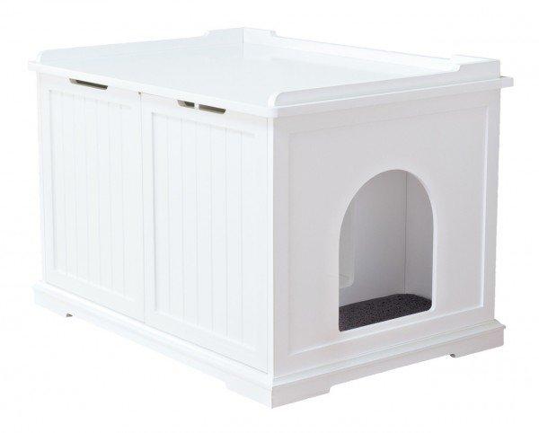 TRIXIE Katzenhaus XL 75x53x51cm weiß Katzentoilette