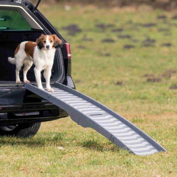 TRIXIE Hunde-Rampe 3-fach klappbar Kunststoff 39x150cm grau
