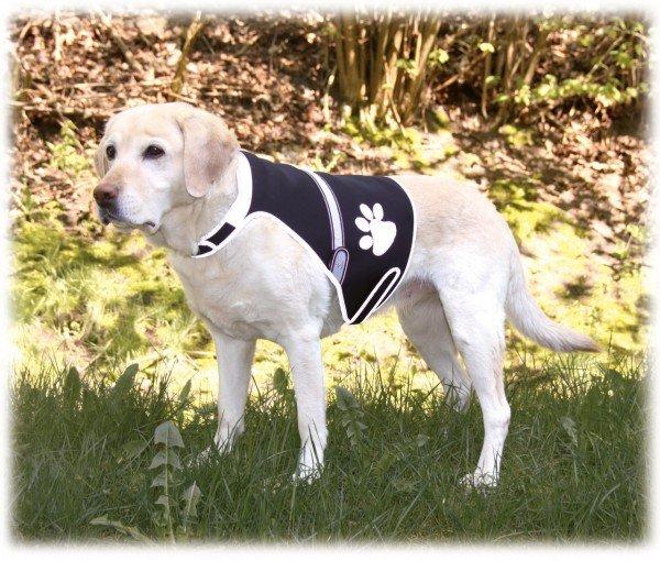 TRIXIE Flash Sicherheitsweste für Hunde S (36 - 58 cm) schwarz