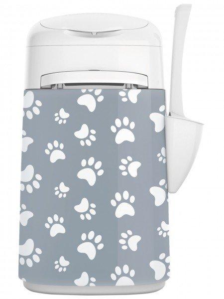LitterLocker FASHION Stoff-Bezug Cat paws grau