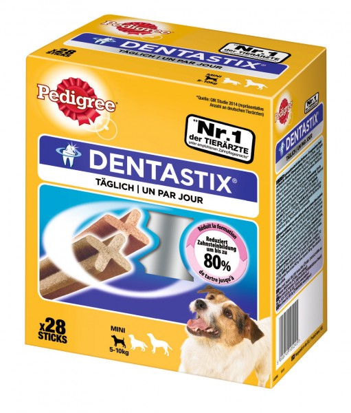 Denta Stix Multipack Kausnack für junge und kleine Hunde (4 x 7 Stück)
