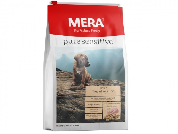 MERA DOG pure sensitive Junior Truthahn & Reis Hundetrockenfutter