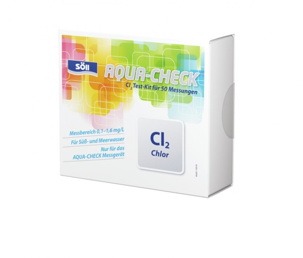 Söll AQUA-CHECK Cl2 Chlor Test-Kit für 50 Messungen