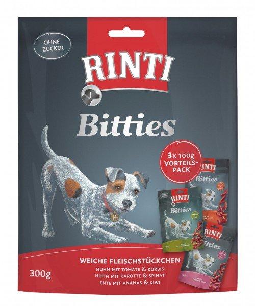 RINTI Bitties 3 x 100g Multipack Hundesnack
