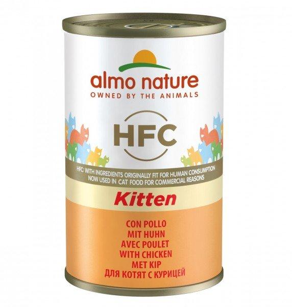 Almo Nature HFC Kitten Huhn 24x140g Dose Katzennassfutter
