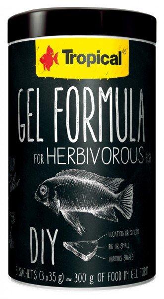 Tropical Gel Formula for Herbivorous 1000ml Hauptfutter für Zierfische