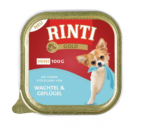 RINTI Gold Mini 100g Schalen Hundenassfutter