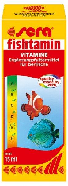 sera Fishtamin 15ml Vitamine Ergänzungsfuttermittel für Zierfische