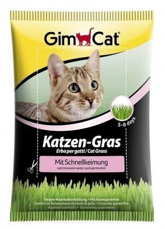 GimCat Katzen-Gras mit Schnellkeimung 100g Nahrungsergänzung für Katzen
