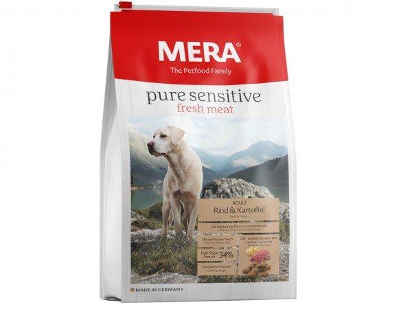 MERA DOG pure sensitive fresh meat Rind & Karoffel high Protein Hundetrockenfutter