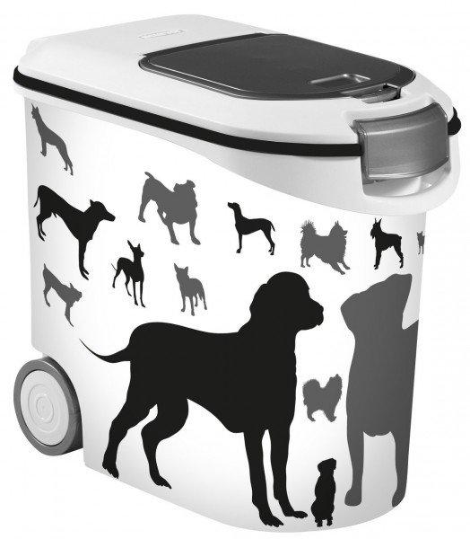 CURVER Futter-Container mit Hunde-Silhouette 35 Liter für ca. 12kg Futter