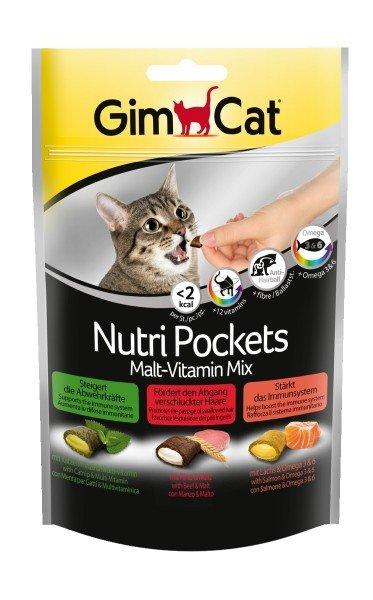 GimCat Nutri Pockets Malt-Vitamin Mix 150g Katzensnack