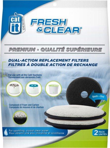 catit Fresh & Clear Premium Doppelfunktions-Ersatzfilter (2 Stück)