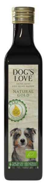 Dog's Love Natural Gold Bio Ölmischung 250ml Nahrungsergänzung für Hunde